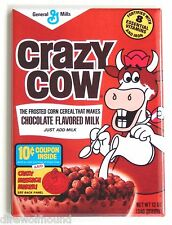 Crazy Cow Chocolate FRIDGE MAGNET (2 x 3 inches) cereal box breakfast