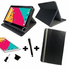 3in1 Set - 10.1 inch Cover For Samsung Galaxy Note 10.1 2014 + Pen +Plug - Black