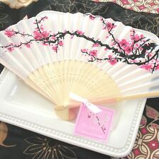 Lovely Cherry Blossom Silk Fan  /  Wedding Favour / Guest Gift