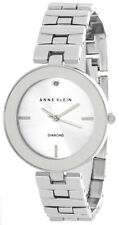 Anne Klein Womens Silver Dial Metal Bracelet Watch  AK/2077SVSV