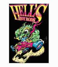 HELL'S HOT RODS - BLACKLIGHT POSTER - 24X36 SHRINK WRAPPED - 2292