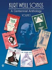 Kurt Weill Songs A Centennial Anthology Volume 1 Sheet Music P V G Com 000321571