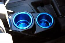 POLARIS RZR XP 900 XP4 RZR RZR-S RZR-4 BLUE ANODIZED BILLET ALUMINUM CUP HOLDERS