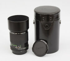 Canon FD 100mm F2 Lens with Canon Lens Hood, Case & front and rear caps