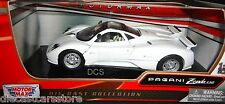 MOTORMAX PAGANI ZONDA C12 WHITE 1/24 NEW WITH BOX DIECAST CAR