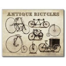 "*Postcard-""Bicycles""--Various Types of Old Antique Ones--"