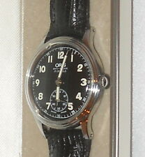 Oris 390 7312 anti-shock 17 jewels black small second A11 military WW2 style war