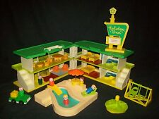 Vintage Fisher Price Little People Swimming Pool Playskool Holiday Inn LOADED!!