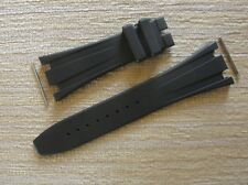 New 28mmX18mm Black Rubber Strap Band W/Case Links Fit/For 42mm AP ROO Watch