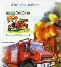 Guinea-Bissau 2015 MNH Fire Engines 1v S/S Ford Model T Mercedes Benz Unimog
