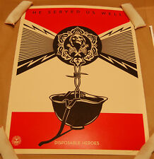 Disposable Heroes Shepard Fairey Obey Giant Poster Print Signed Numbered 2012