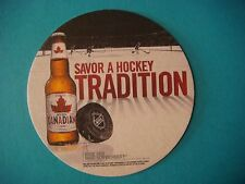 Beer Coaster MOLSON: Canadian NHL Savor A Hockey Tradition-CA Brewery Since 1786