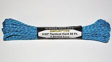 "3/32"" Reflective Tactical Cord 4 Strand Paracord 275 Pound Test MADE IN THE USA"