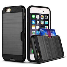 Slim Sleek Case With ID Credit Card Slot Holder Cover For Apple iPhone 7 &7 Plus