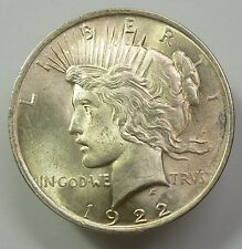 1922-P VAM Double Wing Ray Silver Liberty Peace Dollar $1 US Coin Item #6616
