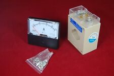 AC 100A Analog Ammeter Panel AMP Current Meter 0-100A 60*70MM with transformer