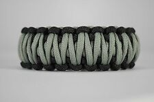 550 Paracord Survival Bracelet King Cobra Black/Foliage Green Camping Tactical