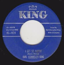 """EARL (CONNELLY) KING - """"I GET SO HAPPY"""" b/w """"SOMEONE WHO CARES"""" on KING  (VG+)"""