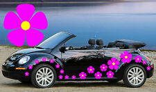 32 PINK PANSY FLOWER CAR DECALS,STICKERS,CAR GRAPHICS,DAISY STICKERS