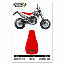 2008-2014 YAMAHA WR 250 X & R All Red PLEATED SEAT COVER BY Enjoy MFG