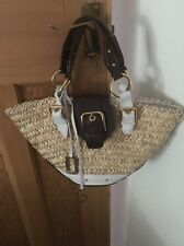 Gorgeous Large Straw dolce & Gabbana Basket Leopard Lined Bag