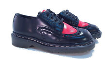 Tredair Dr. Martens Doc England Rare Vintage Black Red Oxfords UK 4 US 6