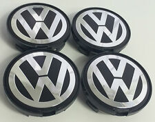 4x VOLKSWAGEN ALLOY WHEEL BADGES CENTER HUB CAPS 63mm VW Golf Passat 7D0601165