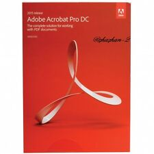 BRAND NEW IN BOX Adobe Acrobat Pro DC 2015 for Windows Free Shipping!