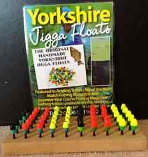 ORIGINAL HANDMADE YORKSHIRE JIGGA POLE FLOATS x6 set FEATURED IN ANGLING TIMES
