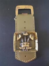 Rare Vtg 1969 BRASS & LEATHER Bottle Opener Commemorate Prince of Wales Charles
