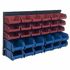 Wall Mounted Storage Rack 30 Bin Parts Tool Garage Organizer Box Screw Bolt Shop