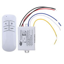Wireless ON/OFF 3 Way 220V LED Lamp Remote Control Switch Receiver Transmitter