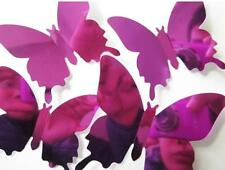 Wall Stickers Decal Butterflies 3D Mirror Bedroom Home Wall Art Home Decors