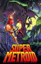 Super Metroid  - Huge Poster  22 inch x 34 inch  ( Fast Shipping ). Beautiful