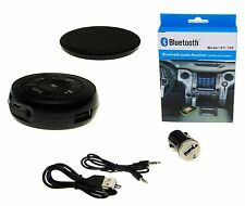 AUX Bluetooth Musik Adapter Receiver FM Radio KFZ Auto Anruf Kit Audio Set Handy