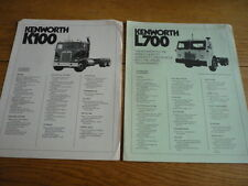 KENWORTH K100 & L700  TRUCK, LORRY, COMMERCIAL BROCHURE jm