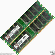 2GB = 2 x 1 GB DDR 400 MHZ PC3200 PC3200U Non-ECC Desktop PC DIMM Memory Ram 184-pin