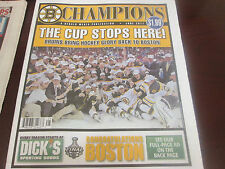 2011 BOSTON BRUINS STANLEY CUP CHAMPIONS-HERALD SUPPLIMENT MAGAZINE