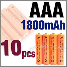 10 pcs AAA 3A 1800mAh 1.2V Ni-MH Rechargeable Battery Cell Orange