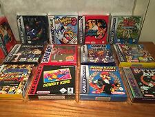 20 Re-Sealable Protective Sleeve 4 Boxed Nintendo Gameboy, Colour & Advance Game