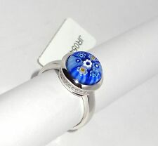 Authentic Murano Millefiori Glass Ring By Alan K 925 Sterling Silver Size 6.75