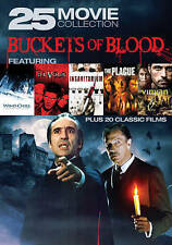 BUCKETS OF BLOOD 25 MOVIE COLLECTION (DVD, 2016, 6-Disc Set) NEW