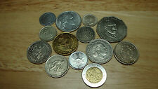 World Coin Lot of 13 coins (3 Silver coins in lot) From 13 Different Countries