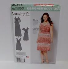 Simplicity Pattern Amazing Fit Maxi Dress S0368  Cup B C D Sz 20W-28W Same 1102