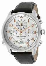 New Men's Bulova 96B182 Precisionist Wilton Chronograph Leather Strap Watch