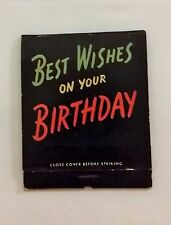 Best Wishes On Your Birthday Giant Matchbook