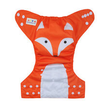 Alva Baby Girl Fox Reusable Adjustable Washable Cloth Diaper Nappy +1Insert
