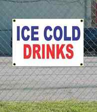 2x3 ICE COLD DRINKS Red White & Blue Banner Sign NEW Discount Size & Price