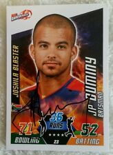"JP DUMINY CRICKET SIGNED IN PERSON IPL ATTAX CARD ""BUY GENUINE"""