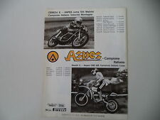 advertising Pubblicità 1976 MOTO ASPES JUMA 125/CRS 125 CROSS e CORRADO MADDII